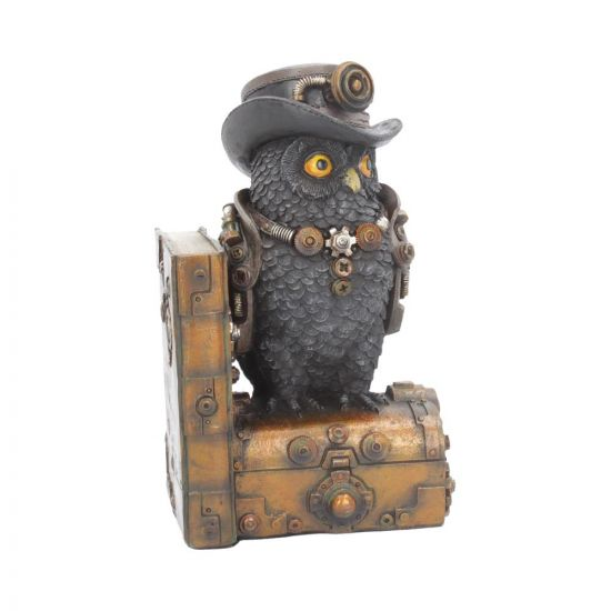 Augmented Wisdom Figurine Steampunk Owl Bookend Ornament Premium Owls