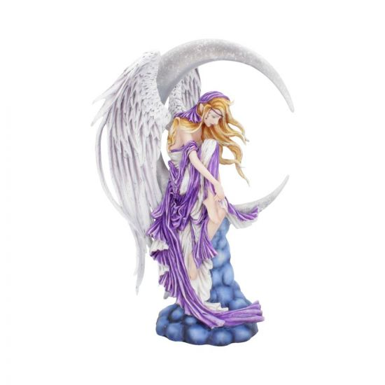 Angelic Fairy Sat On A Crescent Moon Dreamer by Nene Thomas 31cm Artist Angels