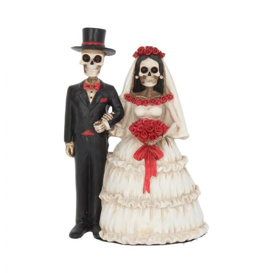 Eternally Yours Figurine Skeleton Wedding Bride Groom Valentine Ornament Skeletons (Premium)