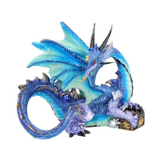 Piasa Sky Blue and Violet Small Fantasy Dragon Figurine Dragons