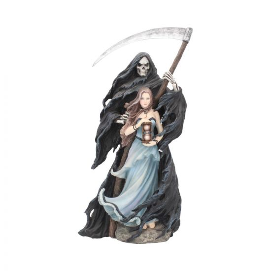 Summon The Reaper Gothic Figurine By Anne Stokes Woman and Reaper Ornament Large Figurines